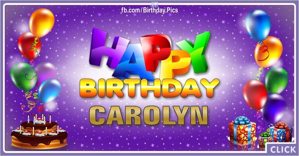 Happy Birthday Carolyn - 2