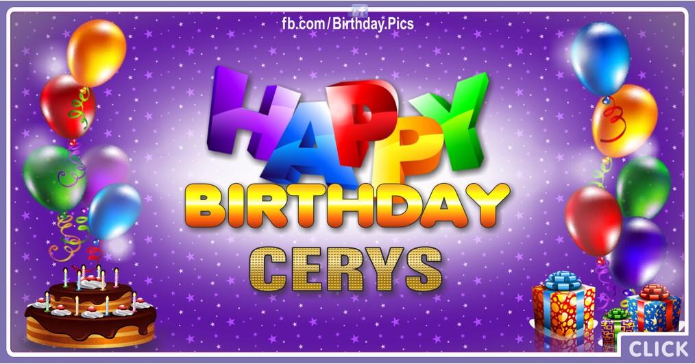 Happy Birthday Cerys - 2