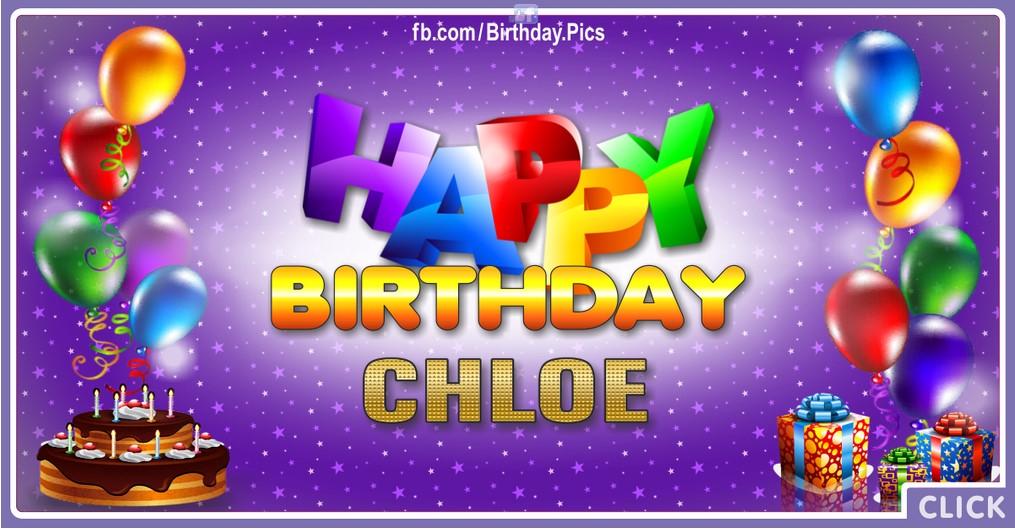 Happy Birthday Chloe - 2