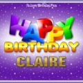 Happy Birthday Claire