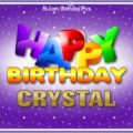 Happy Birthday Crystal