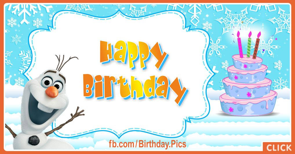 Frozen Olaf says you happy birthday - FZN005