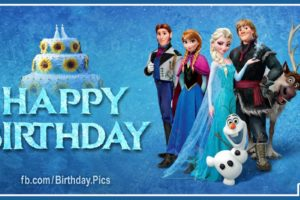 Frozen Characters Say You Happy Birthday