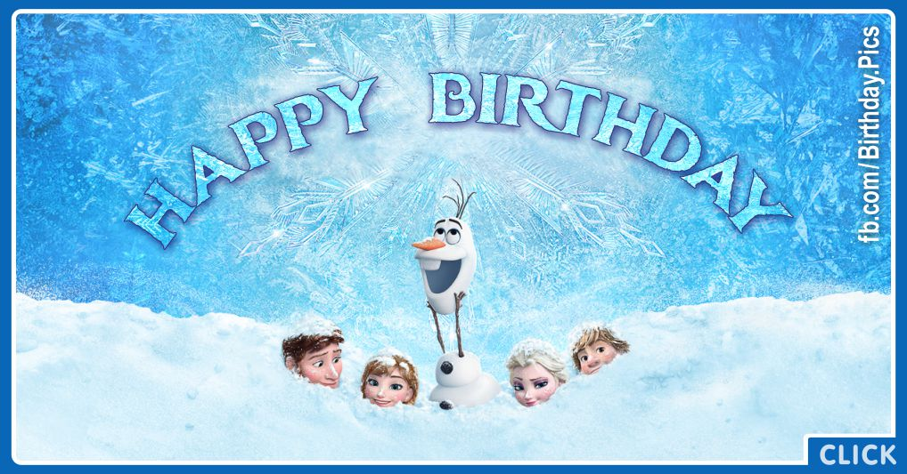 Magnificent Frozen Characters Celebrating Your Birthday Frozen Birthday Card Personalised Birthday Cards Paralily Jamesorg