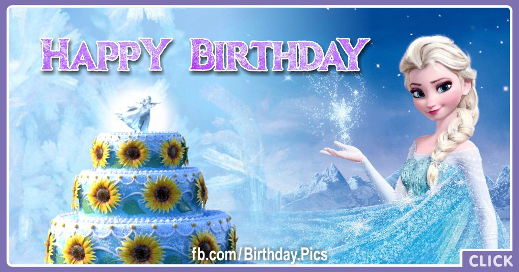 Frozen Elsa celebrates your birthday - FZN009