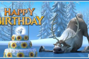Frozen Sven Celebrates Your Birthday With Good Journey Wishes