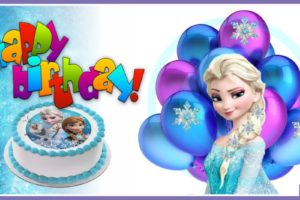 Blue Frozen Cake – Frozen Elsa With Jeweled Hairpins