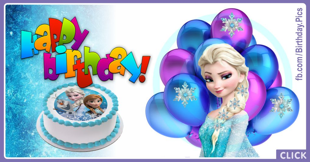 Elsanna Green Card Frozen Happy Birthday Card Happy