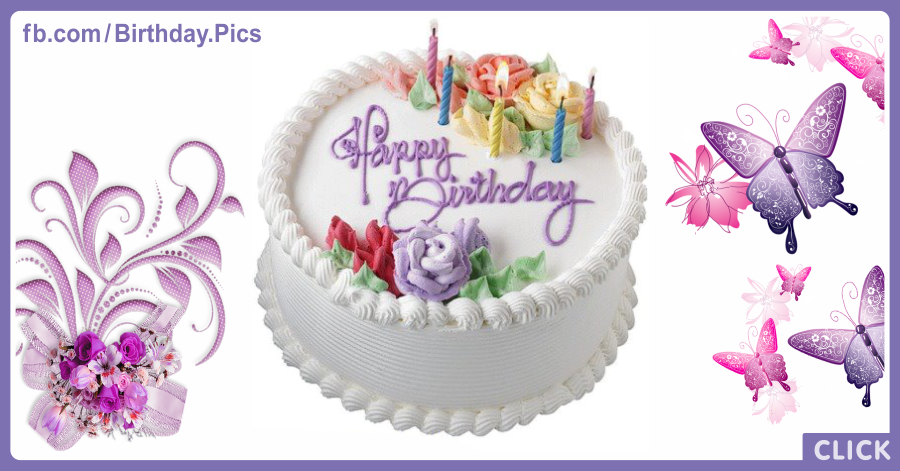 White cake birthday card - 050