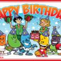 Jelly bean family birthday party card - 059