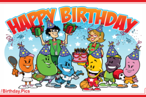 Happy Birthday To You With Jelly Bean Family Birthday Party Card