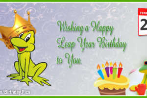 Leap Year Birthday Card 1