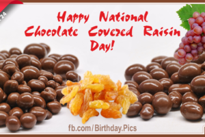 Happy National Chocolate Covered Raisin Day Card