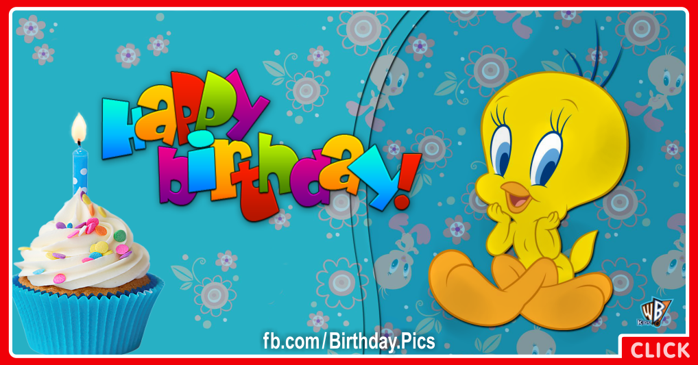 Cute Tweety bird birthday card - 617