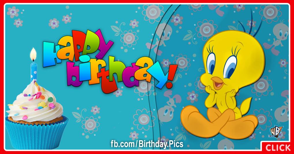 Cute Tweety bird birthday card - 617