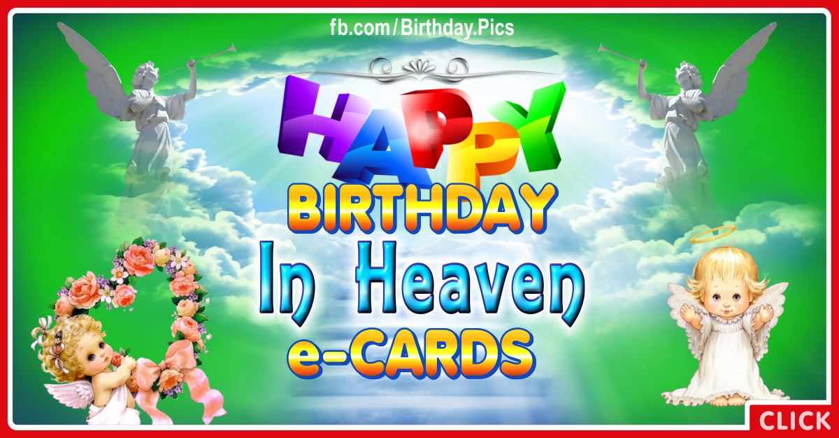 Birthday Cards For Heavenly Loved Ones
