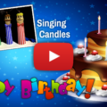 Cake Candles Singing the Happy Birthday Song