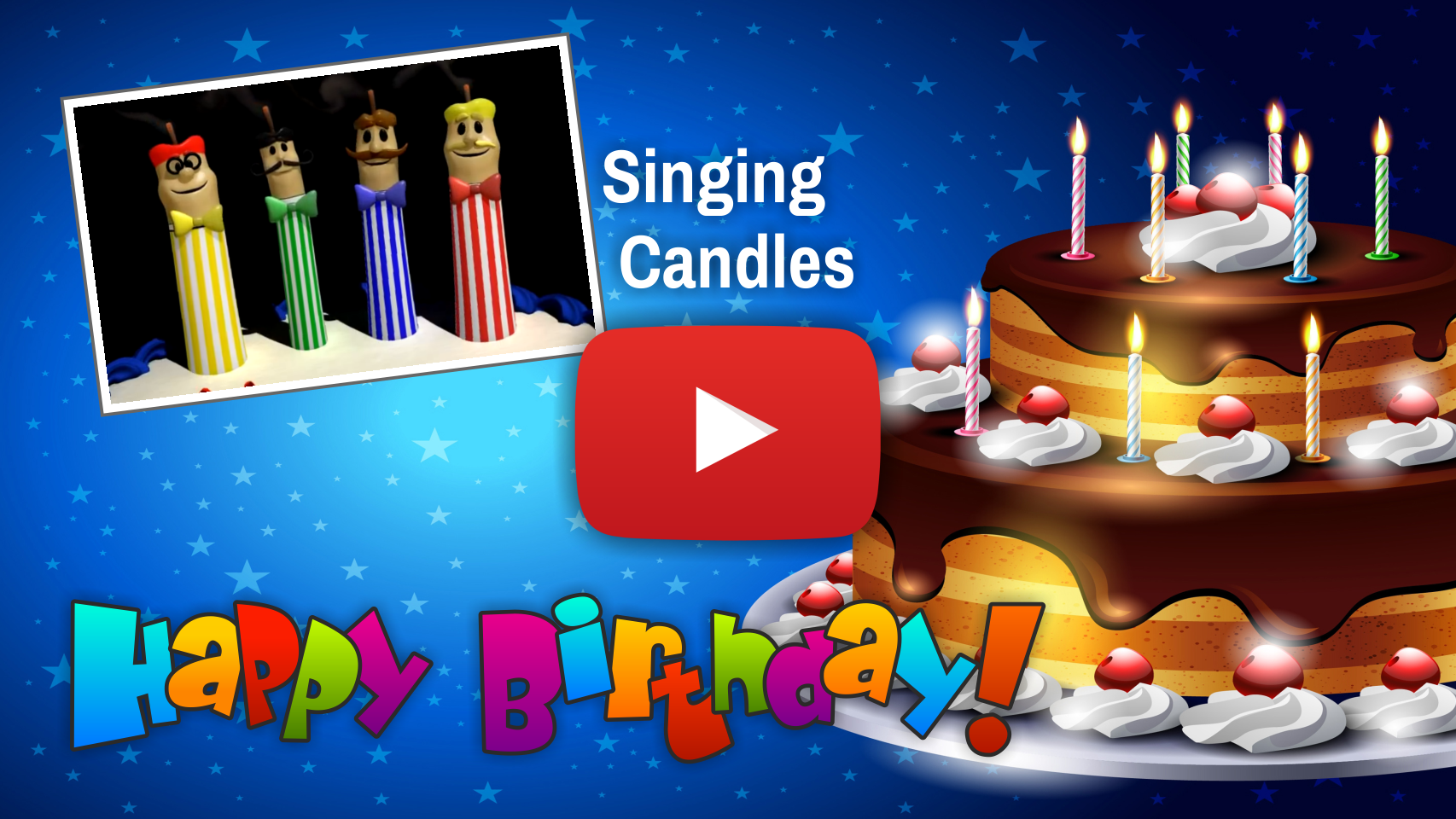 Cake Candles Singing The Happy Birthday Song Video