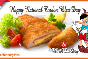 Happy National Cordon Bleu Day –  Today is April 4th