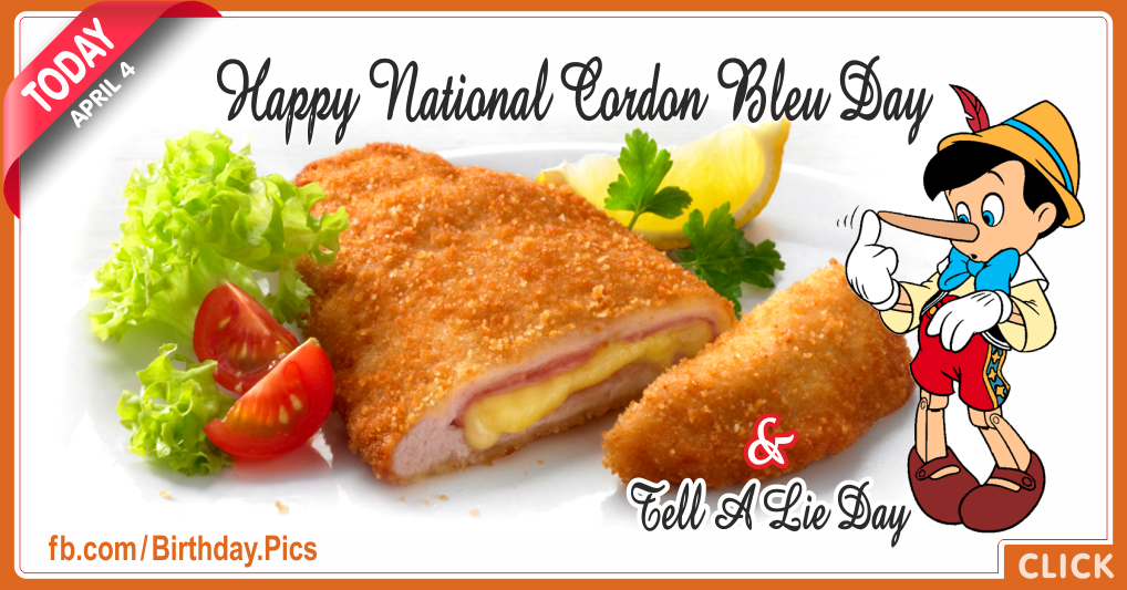 National cordon bleu day - April 4