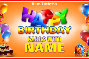 Birthday Cards With Name – 1