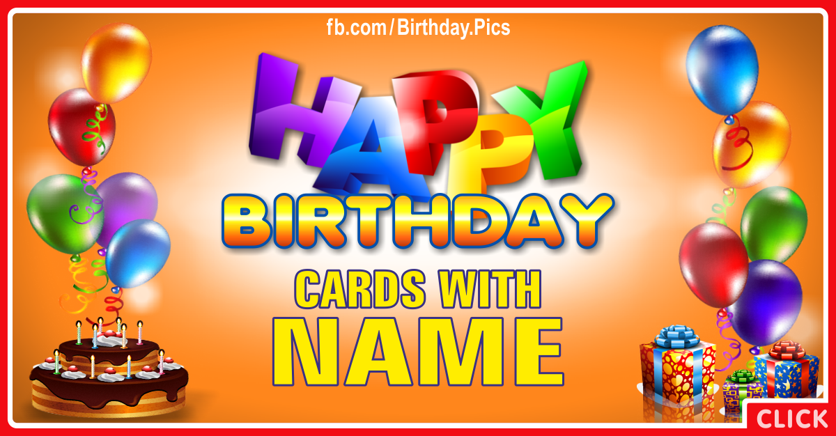 Birthday Cards With Name - 1