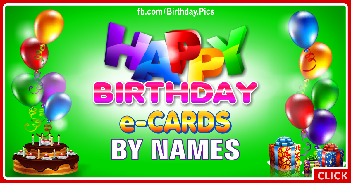 Birthday Cards For Special Names
