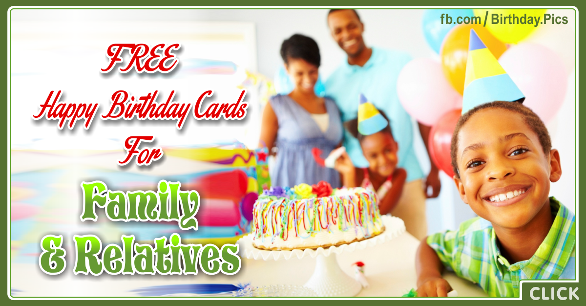 Birthday Cards For Family And Relatives