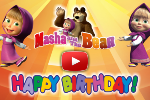 Happy Birthday To You With Masha And The Bear Video Card