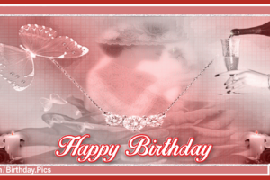 Happy Birthday Old Style Jeweled Card