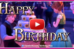 Frozen Happy Birthday Video Card
