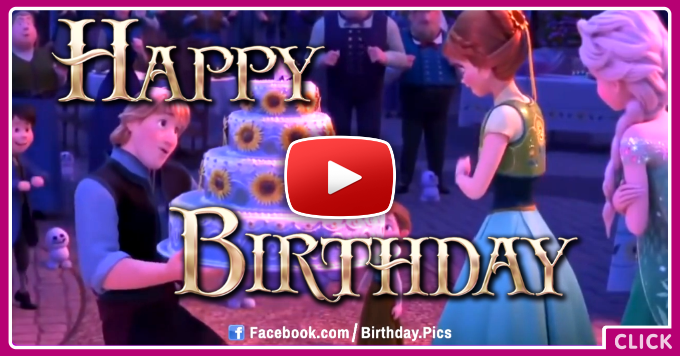 Happy Birthday To You Frozen Happy Birthday Video Card Happy – Video Birthday Cards