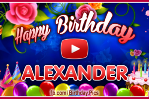 Happy Birthday Alexander