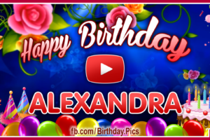 Happy Birthday Alexandra