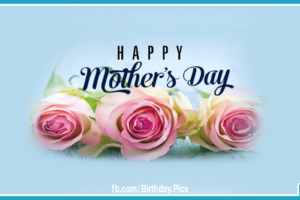 Happy Mothers Day To You on Green Card With Gold Ornaments