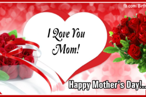 Happy Mothers Day With Jeweled Red Roses