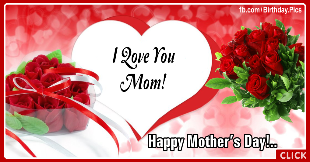 Happy mothers day, red roses