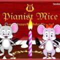 Pianist Mice Happy Birthday Song