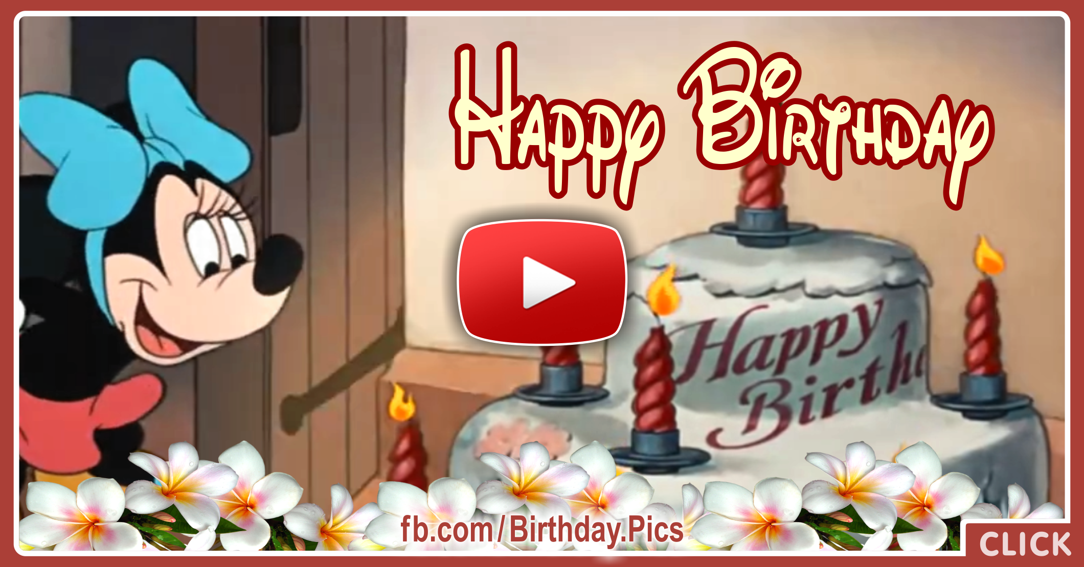 Mickey Mouse Happy Birthday Video Card 2a