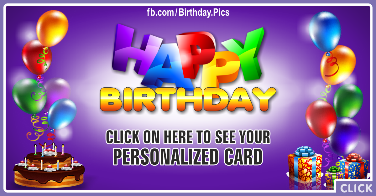 Happy Birthday Shelton Personalized Card for you