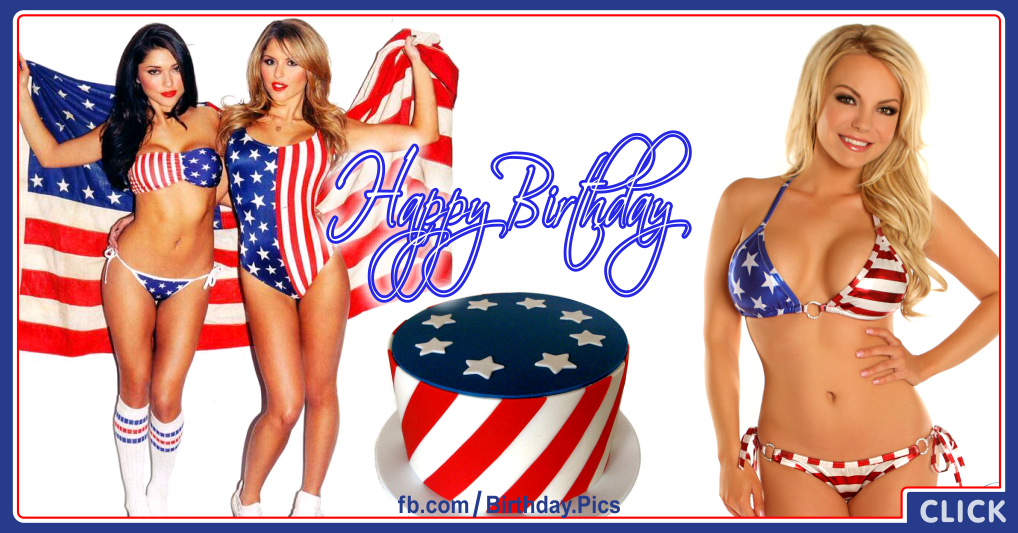 4th July Happy Birthday Card - 01