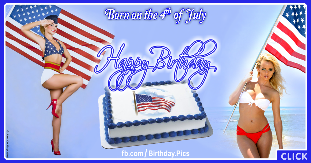 4th July Happy Birthday Card - 02