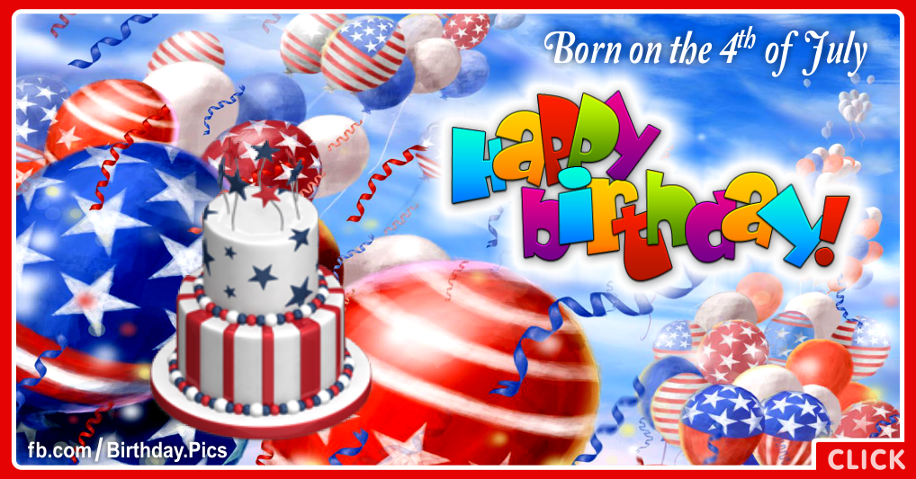 4th July Happy Birthday Card 12