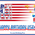 4th July Happy Birthday USA Card 04