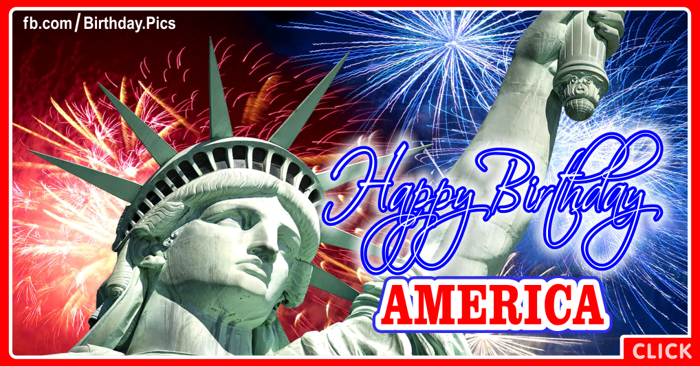 4th July Happy Birthday America card 06