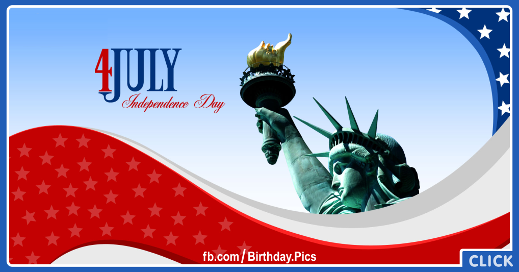 4th July Independence Day Card 15 for celebrating