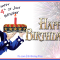 Happy 4th July Birthday Card 16