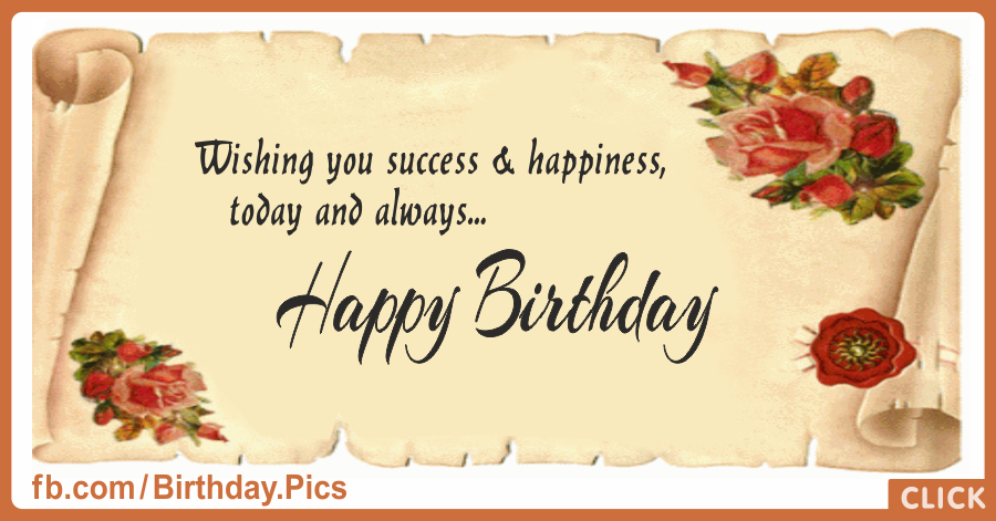 Antique Paper - Happy Birthday Card