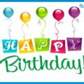 Ballons White Happy Birthday Card