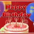 Balloons On Maroon Happy Birthday Card